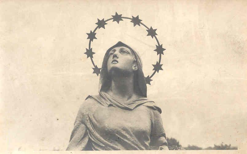 il volto della Madonna protettrice di Cinisello Balsamo