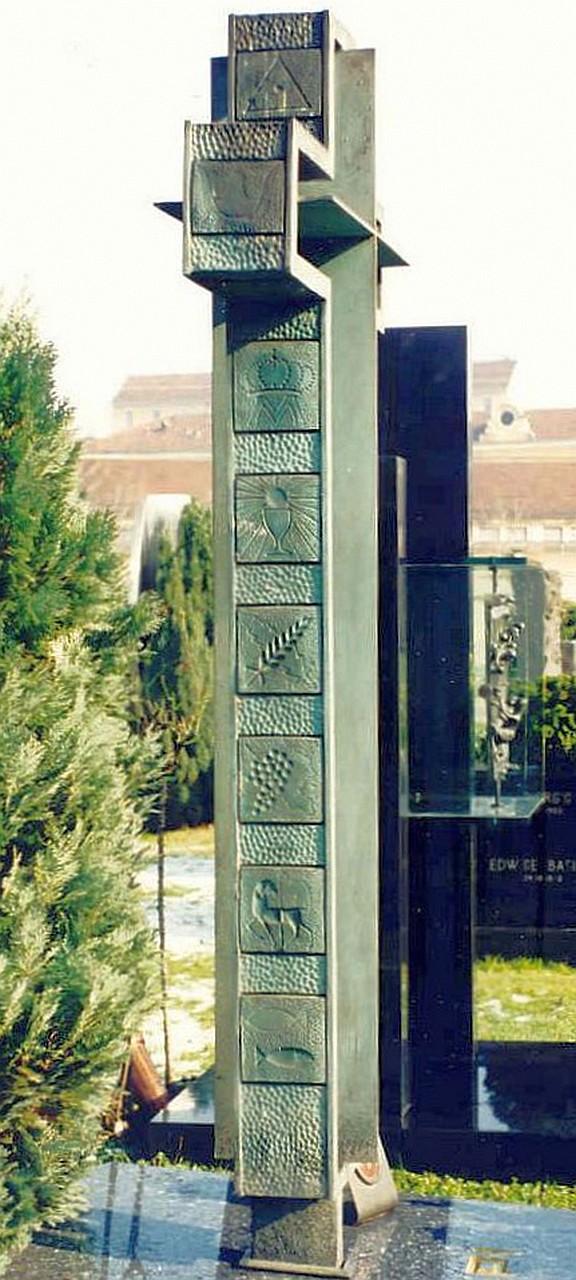 Orazio Bobbi - Croce - Bronzo al Cimitero Monumentale di Milano