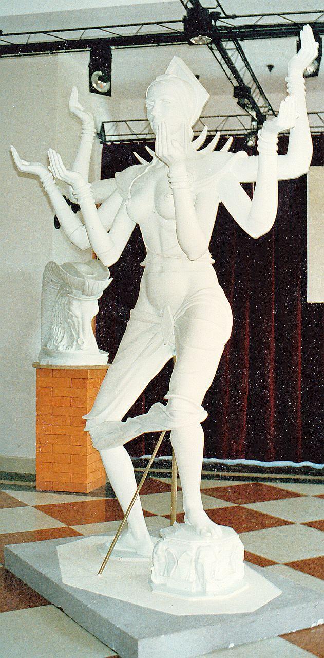 Orazio Bobbi - Dea Kali - Gesso