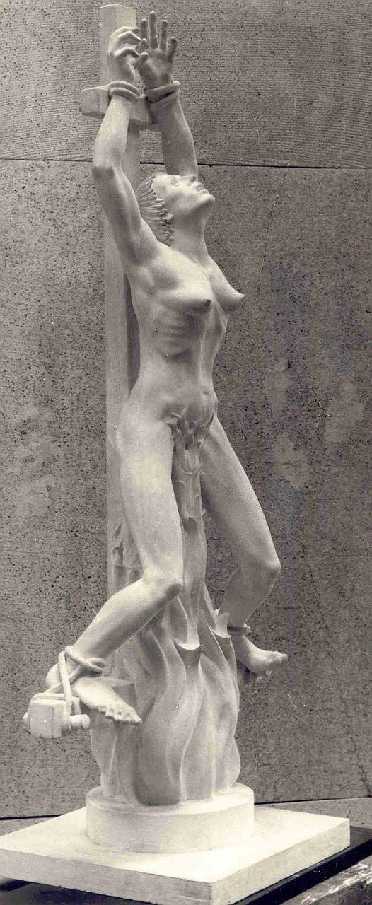 Orazio Bobbi - Giovanna d'Arco - Gesso