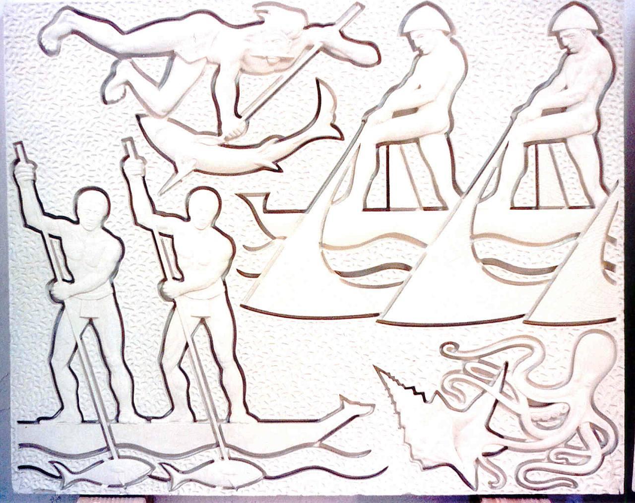 Orazio Bobbi - La Pesca - Gesso