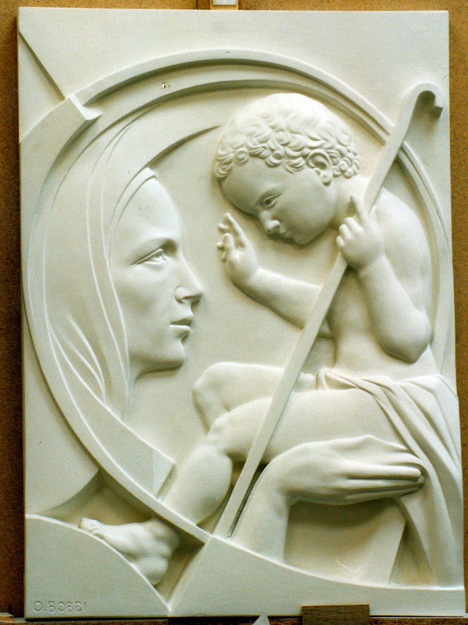 Orazio Bobbi - Madonna con Bambino - Gesso