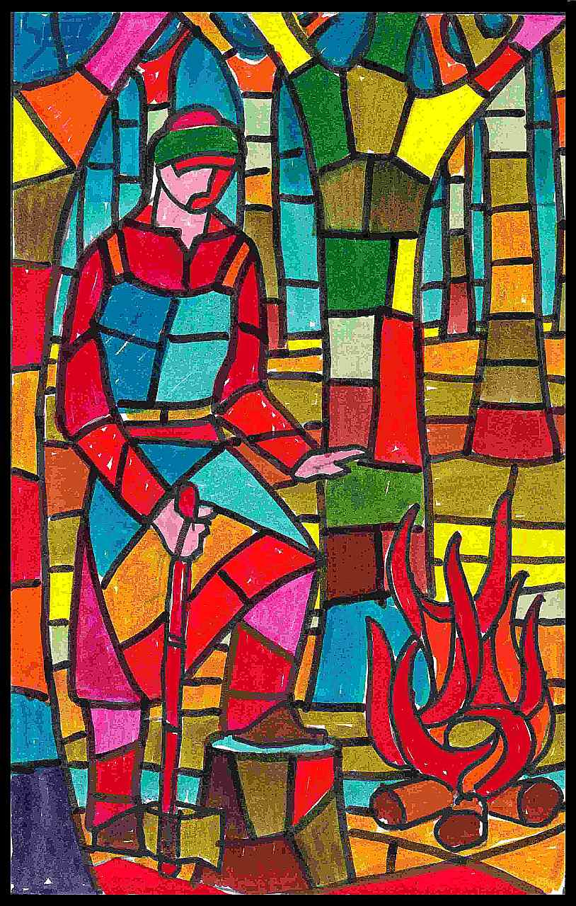 Orazio Bobbi - vetrata destra della Cappella