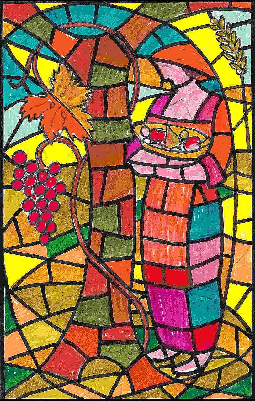 Orazio Bobbi - vetrata di ingresso alla Cappella