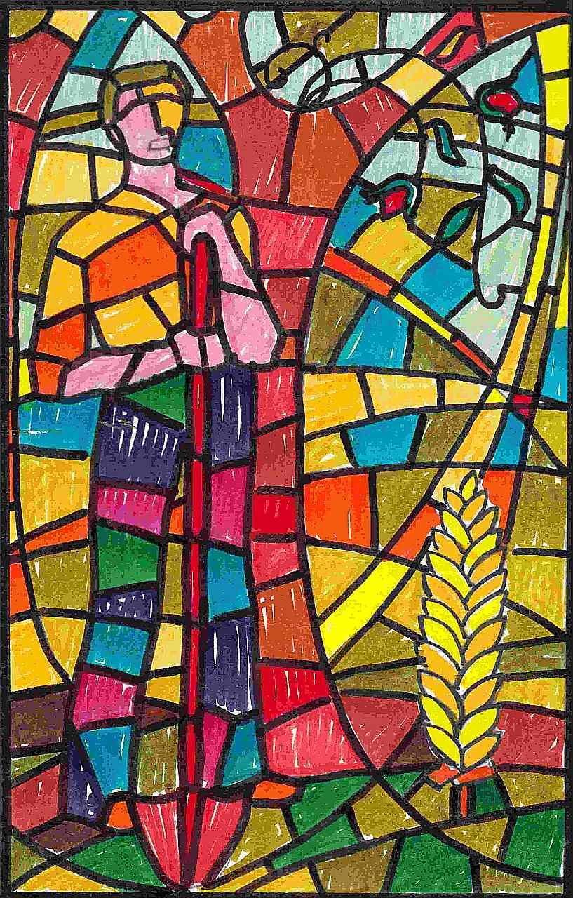 Orazio Bobbi - vetrata sinistra della Cappella