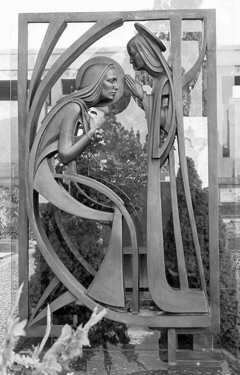 Orazio Bobbi - Annunciazione - Bronzo - Cimitero Maggiore di Milano