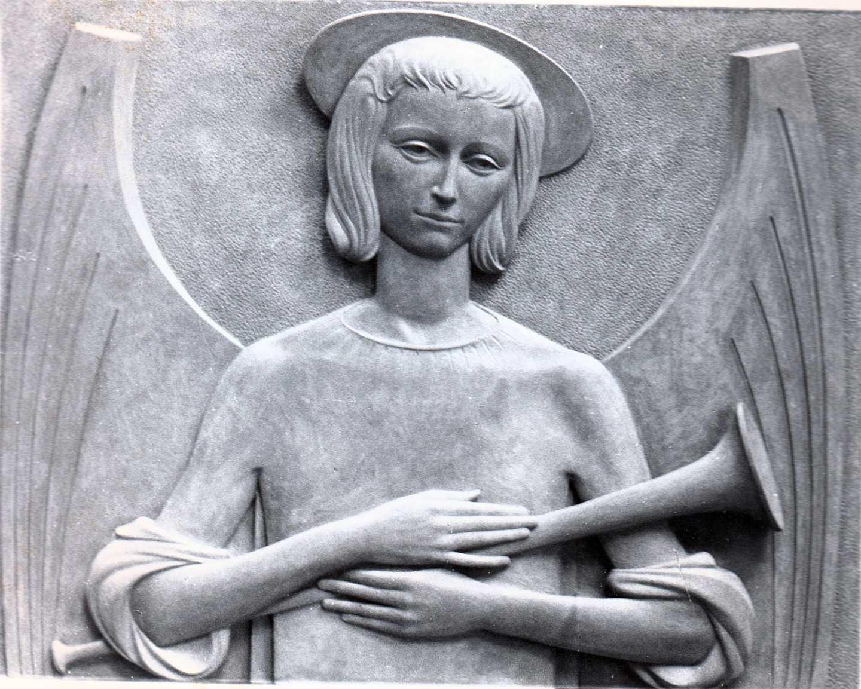 Orazio Bobbi - Annunciazione - Bronzo al Cimitero Maggiore di Milano