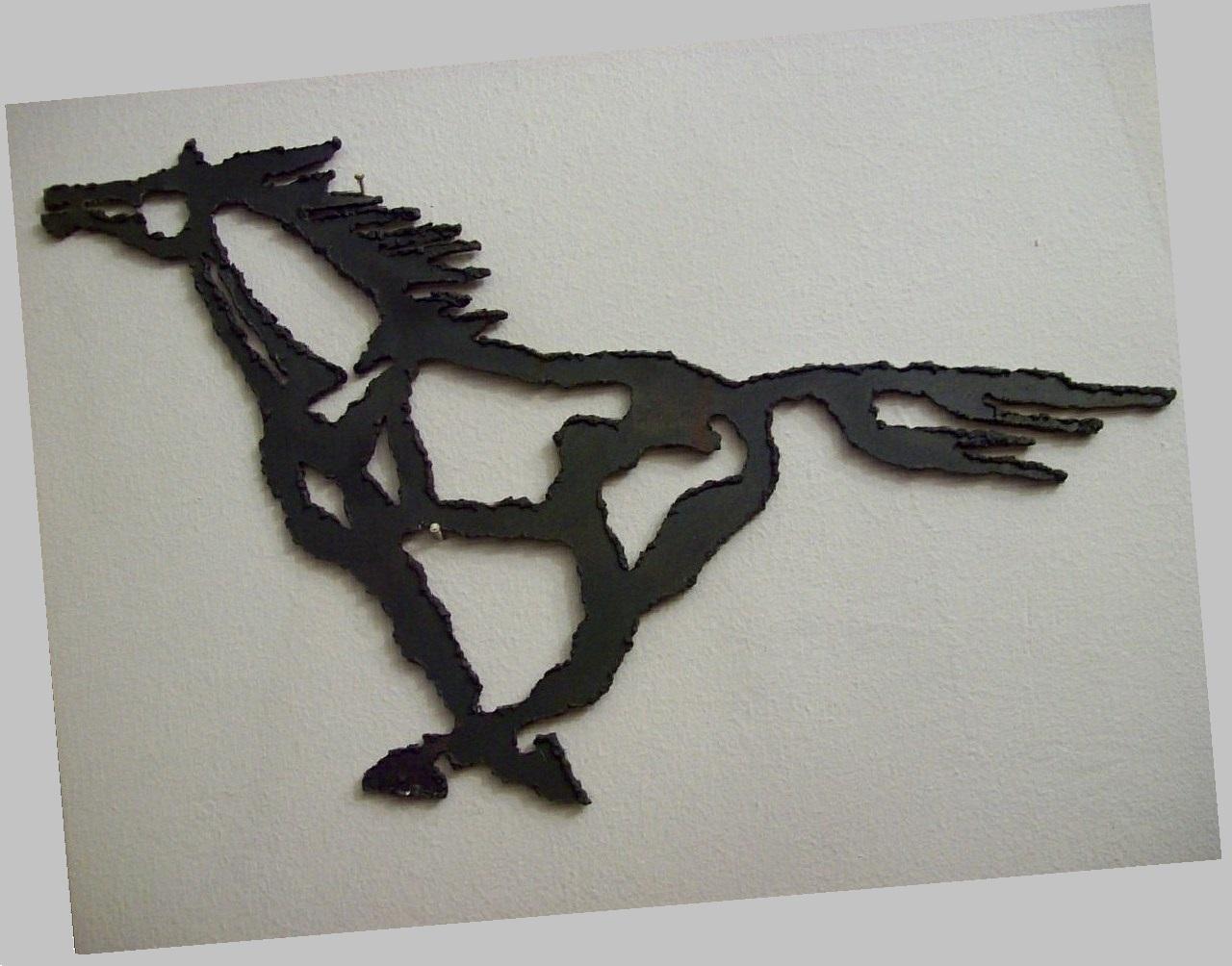 Orazio Bobbi - Cavallo in corsa - Ferro