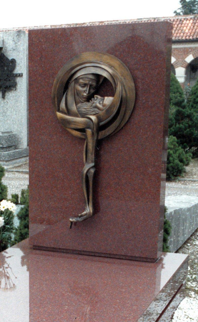 Orazio Bobbi - Deposizione - Bronzo al Cimitero Monumentale di Milano