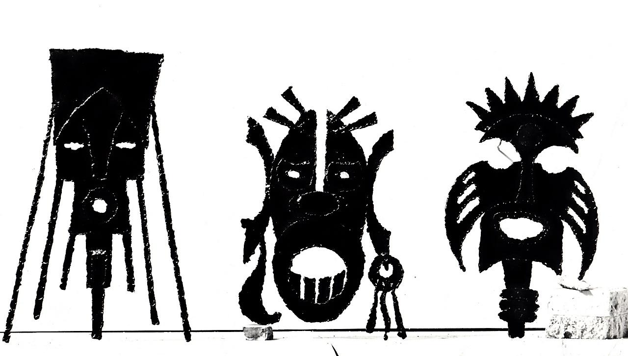 Orazio Bobbi - Tre Maschere Mostruose - Ferro
